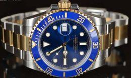 Wholesale Blue Ceramic Watches - Luxury 40mm 116613LB BLUE CERAMIC GOLD STEEL UNWORN AUTHENTIC Stainless Steel Bracelet MAN WATCH Wristwatch