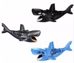 Wholesale Toys Pirate Caribbean - Ghost Zombie Shark Action Bricks Single Sale Pirates of the Caribbean Building Bricks Toys For Children PG1008