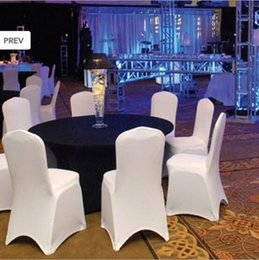 Wholesale Spandex Stretch Chair - 2017 new White Spandex Stretch Chair Cover Lycra For Wedding Banquet Party Hotel Decorations Chair COVER