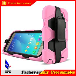 Wholesale Iphone 5c Silicone Transparent - Hybrid Military Silicone & PC Shell Shockproof Duty Stand Case Cover with Belt Clip for iPhone 4 5 5C iphone 6 6plus