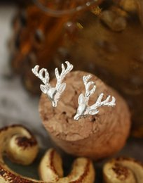 Wholesale Extravagant Gifts - European trade wholesale jewelry Brand Vintage extravagant Elk antlers stereo retro ear clip accessory gift