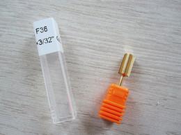 Wholesale gold drill bits - Wholesale-2015 Pro nail drill tool- Gold Carbides Bit, Fine (F36), Medium(M32), Coarse(C25), Very Coarse(C20) and Extra Coarse(C16)