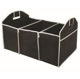 Wholesale Cargo Box Storage - Home Car Seat Organizer Trash Bin AUTO Trunk Cargo Collapsible Storage Black Folding Zakka Boxes Sundries For Organiser Box
