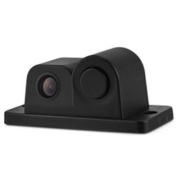 Wholesale Monitor Rear View Reverse Sensors - PZ430 2 in 1 170 Degrees Waterproof Car Rear View Reverse Backup CMOS Camera with Parking Sensor Kit