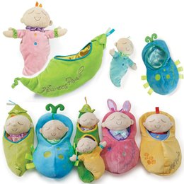 Wholesale Peanuts Doll - New Hot Manhattan Children Comforting Dolls Pea Princess Peanut Cute Baby Plush Toys Coax Sleep Toys
