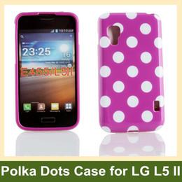 Wholesale Optimus L5 Ii - Wholesale Cute Polka Dots Soft TPU Gel Cover Case for LG Optimus L5 II E455 E460 Free Shipping