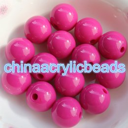 Wholesale White Opaque Beads - 16MM White Acrylic Beads Opaque Round Plastic Charms Round Bubblegum Chunky Opaque Loose Spacer Beads For Jewelry Making