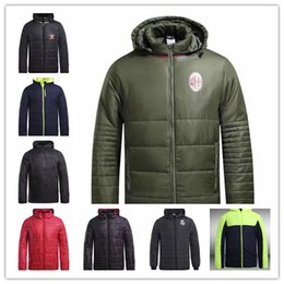 Wholesale Men England Coat - 1718 England Blues The Reds Red Devils and Real Madrid football coats high quality Alexander Lacazette and Sadio Mane men's football coat