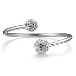 Wholesale Bracelets Shambhala - 925 sterling silver items jewelry petty crystal Shambhala bracelets bangle wedding vintage open design infinity charms