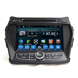 Wholesale Double Tuners Wifi - Double din android car dvd cd head unit navigation touchscreen with wifi 3g radio bluetooth fit for Hyundai IX45 Santa Fe 2013