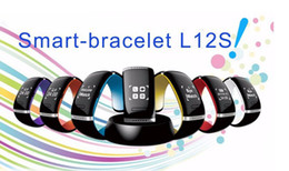 Wholesale Wrist Cuff Watch - 2016 Best Gift Cuff Smart Bracelet OLED L12S Bluetooth 3.0 Smartwatch Wrist Watch for Andriod Phone Multi Color for you Chioce