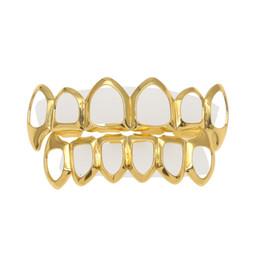 Nueva cara de regalo online-Nuevo Custom Fit 18K chapado en oro Vampiro Four Open Face Gold Grillz Set para regalo de Navidad