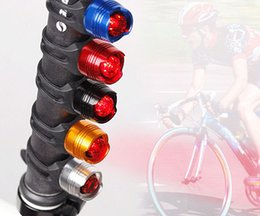 Wholesale Waterproof LED Bike Bicycle multi function Front Rear Tail Helmet Red Flash Lights Safety Warning Light Cycling SKU