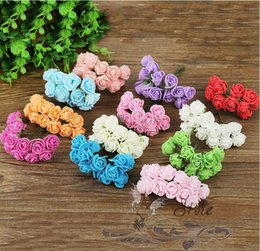 Wholesale Free Scrapbooking Supplies - FREE SHIPPING 144pcs Multi Color Scrapbooking artificial rose flowers for Party Supplies