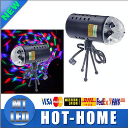 Wholesale Rgb Led Auto Voice Activated - X2PCS BEST PRICE Mini Laser Projector Light Full Color LED Crystal Voice-activated Rotating RGB Stage Light Home Party Club DJ Show 85V-260V