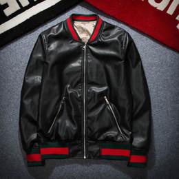 Wholesale Slim Coats Outwear - 2017 mens Tiger head Leather jackets sportswear Fashion Windbreaker marks Zipper hoodies Coats Outwear men's north jacket tags black