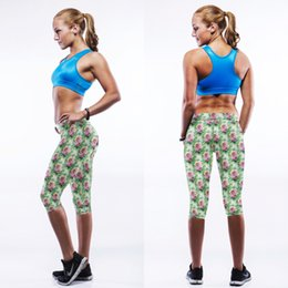 Wholesale Super Stretch Flowers - FG 1509 Raisevern new women yoga pants super stretch legging pants floral flowers pattern print elastic fitness workout leggings pants