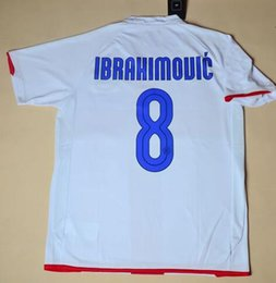 Wholesale Seasons Soccer Jersey - Retro jersey 07-08 season Serie A IBRAHIMOVIC  ZANETTI  Figo 2008 jersey