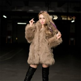 Wholesale Plus Size Warm Tops Womens - Top Quality Womens Faux Fox Fur luxury Hooded Winter Warm coat Ladies Topwear Plus sizes gray white khaki black Free Shipping WT81