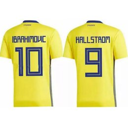 uniforme de futbol tailandés Rebajas 2018 SWEDEN ZLATAN IBRAHIMOVIC survetement maillot maglia thai camiseta de fútbol de calidad thailand camisetas de fútbol uniformes de fútbol jerseys