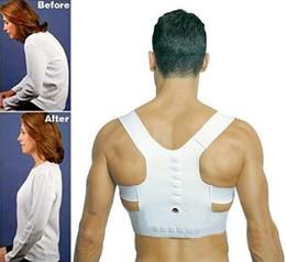 Wholesale Good Posture Back Brace - hot!Quality is very good Magnet Posture Back Shoulder Corrector Posture Brace Belt Therapy Adjustable Kyphosis correction