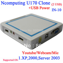 Wholesale Thin Clients China - Wholesale-Thin client U170 China ncomputing clone NC RDP USB thin clients with 2* usb support webcam microphone usb printer youtube etc