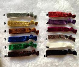 Wholesale Hair Tie Korea - European and American Glitter velvet rope knotted hair Hollywood Hair tie knotted rubber band hair band Korea