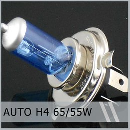 Wholesale Wholesale Auto Glass Prices - 10 xH4 12V 60 55W 65 55W Auto Car Front Head Light Headlight Blue Glasses P43T Lamp Factory Price By Post Air Mail 10pcs order<$18no track