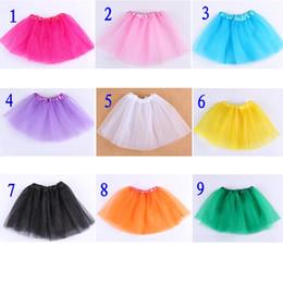 Wholesale Wholesale Baby Petti Skirts - free ship girls tutu baby girl tutu chiffon skirts children tutu petti skirt 18color for choose pick up color freely 30pcs lot