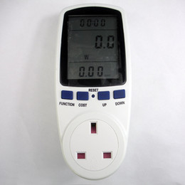 Wholesale Plug Power Monitor - Wholesale-UK plug in energy meter electricity monitor energy saving meter,power meter