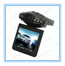 Wholesale H198 Hd Dvr - H198 HD Car recorder Car DVR Radio Camera 6 IR LED Night Video Recorder 2.5 inch Colorful Screen 270 Rotating 1PCS
