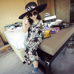 Wholesale Trousers Black Flowers - Summer New Arrival Kids' Jumpsuits Hot Sale Lovely Casual Sets with Printed Flowers Children's Casual Trousers