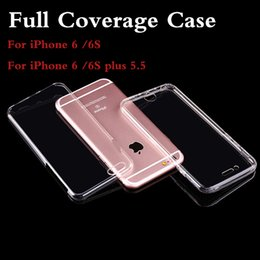 Wholesale Silicon Camera Covers - Cases Full coverages For Apple iPhone6 6s Plus TPU Soft Case Protect Camera Cover Crystal Clear Transparent Silicon Ultra Thin Slim Shell