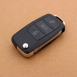 Wholesale Volkswagen Key Replacement - 3 buttons Remote Key Shell Flip Folding Car Key Replacement For VW Golf 4 5 Passat b5 b6 polo Touran For Seat Skoda Car Key