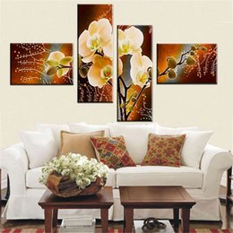 Wholesale Modern Flower Paintings Canvas - NEW 100% hand painted modern Abstract art decorative oil painting on canvas wall art flower picture for living room unique