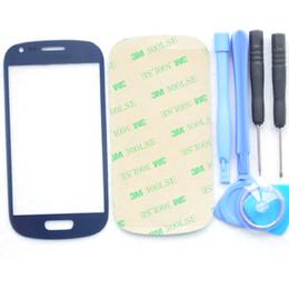 Pour Samsung Galaxy S3 mini-verre extérieur pour samsung lcd écran tactile digitizer avant objectif en verre GT-i8190 sans outils adhésifs Kits ? partir de fabricateur