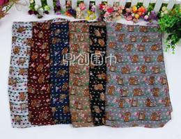 sciarpe stampate in voile Sconti Hot New winter scarf New owl Printed voile Scarf Women fashion Infinity Circle Scialli Wraps 180 * 90cm spedizione gratuita