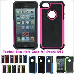 "Wholesale Iphone 4s Cases Football - for iPhone 5 cases with 2in1 football skin design heavy duty Hybrid shockproof back cover for iphone 6 4.7"" 6 plus 5.5"" 4 4s 5 5s 5C"