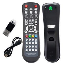 Contrôleur de télécommande en Ligne-Livraison gratuite en gros USB sans fil IR Contrôleur Souris Clavier Pour Ordinateur Portable PC HTPC Media Télécommande