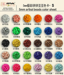 Wholesale 5mm Craft Beads - 94Colors 1 Bag 500pcs 5mm Hama Beads Artkal Beads Perler Beads Fuse Beads For Early Educational Toys DIY Kids Crafts Toy 50pcs B127