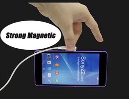 Wholesale Xperia Z1 Magnetic - Sony LED Metal Strong Magnetic Cable USB Charging Data Cable Line For Sony Xperia Z3 Z2 Z1