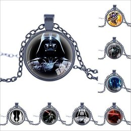 Wholesale Link Clone - 60 styles Star Wars Necklace Unisex Star Wars Jedi Knight Darth Vader Clone Alloy Necklace Pendant Necklace Christmas Gift LA163-5