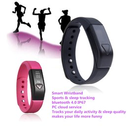 Wholesale Healthy Watches - I5 Bluetooth Bracelet healthy Smartwatch wristhand watch smart watch Clock Vibrating Pedometer Mileage Sleep mode Calorie newest products