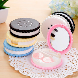 Wholesale Eye Contacts Colors - Contact Lens Accessories Cosmetic Lenses Box Muti-Colors Contact Lens Case Contacts Lens Contact Eyes Lenses Vision Care