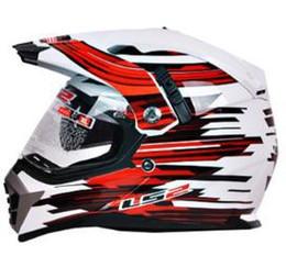 Wholesale Ls2 Helmets Mx - Wholesale-Double lens off road motorcycle helmet LS2 professional multi function cross helmet MX 455