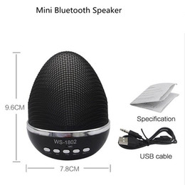 Wholesale Center Flash - Egg Design Portable WS-1802 Mini Wireless Bluetooth Speakers LED Light Flash Super Bass Portable BeatBox Hi-Fi Handfree Mic Stereo Music Pla