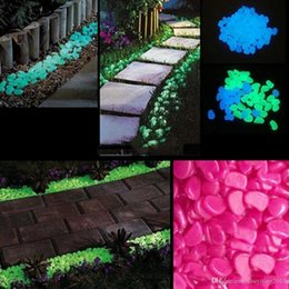 hot sale solar glow stone simulation lightweight luminous pebble stone for home fish tank decor garden