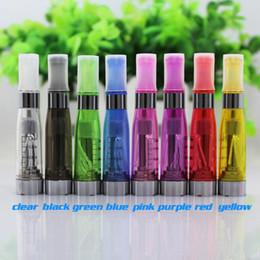 Wholesale Wicks For Electronic Cigarettes - CE4 Clearomizer Atomizer Cartomizer 1.6ml vapor tank e-cigarette Electronic Cigarette for eGo battery 8 colors 4 Long wicks