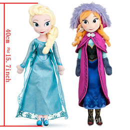 Wholesale Cheap Toy Figures - In stock ! frozen dolls 40cm elsa anna frozen plush doll action figures plush toy dolls free shipping Cheap Christmas Gift 10pcs
