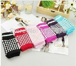 Wholesale Winter Glove Cheapest - Wholesale-6 Pairs Cheapest winter cotton warmth gloves beauty girl and boy gloves free shipping warmth mitten leakage gloves Felt Mitten